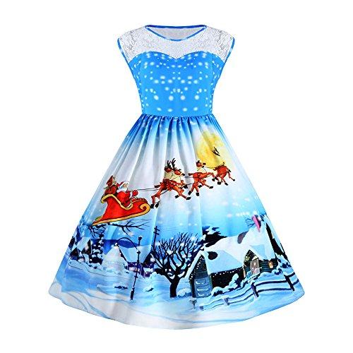 391cd8c94fb Nemidor Women s Lace Top Deep V-Neck Plus Size Evening Vintage Maxi Dress(Navy  ...